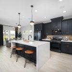 Aspect Dark Azure Kitchen Cabinets
