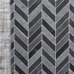 Shower Wall - Shaw Del Ray Chevron Milly Gray Tile