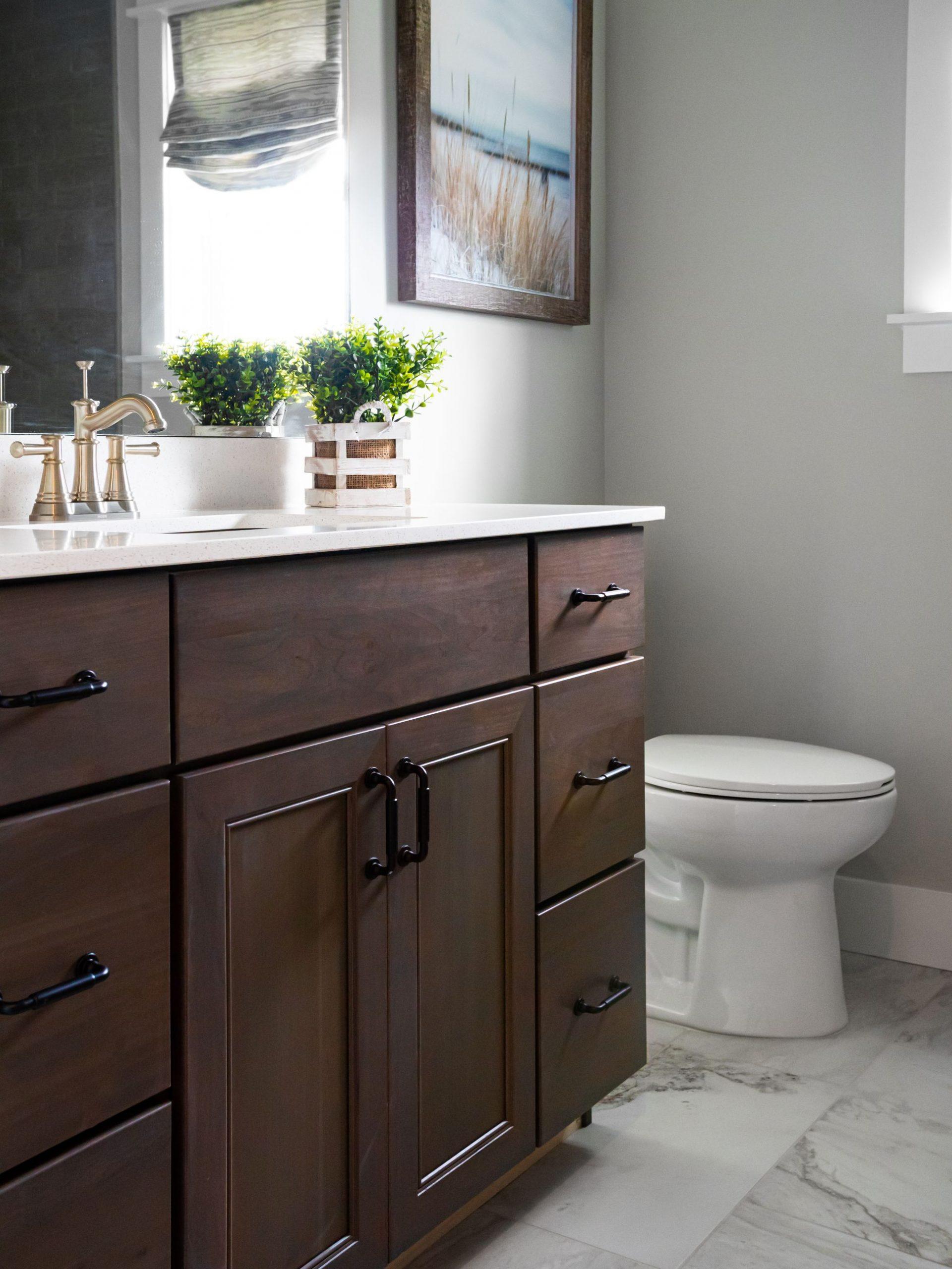 Aspect Landes Poplar Shadow bathroom vanity.