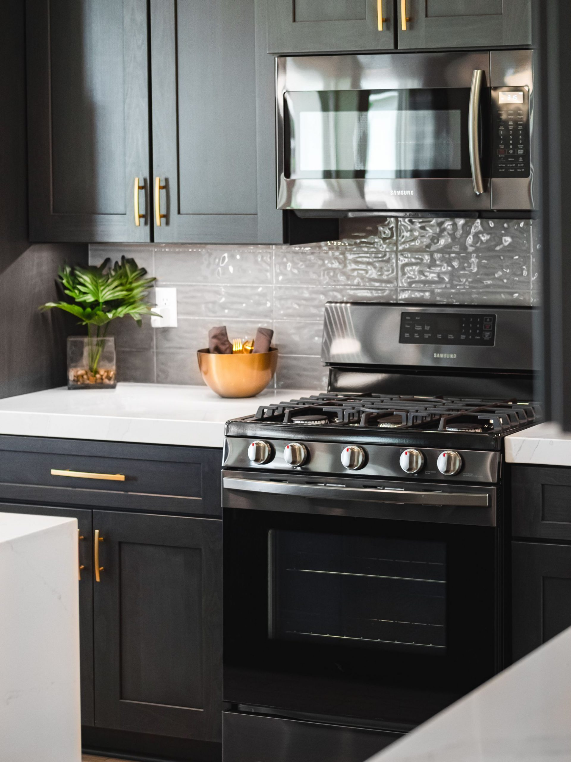Aspect Dark Azure Lancaster Kitchen Cabinets